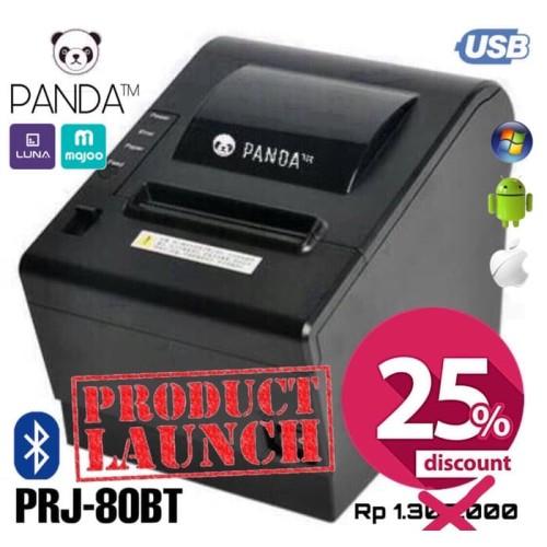 Foto Produk PRINTER BLUETOOTH POS ANDROID KASIR THERMAL 80MM PANDA PRJ-80BT (RJ11) dari Barcode Zone