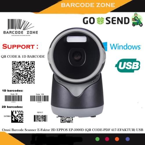 Foto Produk 2D OMNI BARCODE SCANNER EPPOS EP-5000D (QR CODE/PDF417/EFAKTUR) AUTO dari Barcode Zone