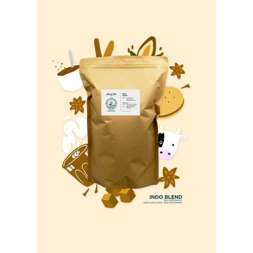 Foto Produk Indo Blend 1KG dari Hungry Bird Coffee