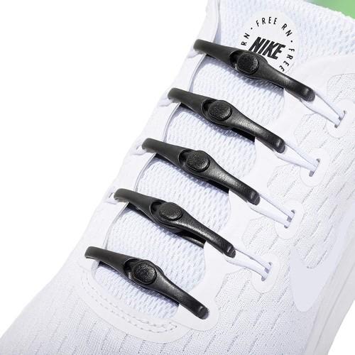 Foto Produk Tali Sepatu Karet Silicone V tie Sholecace Hickies koollaces 12 Pcs - Hitam dari lbagstore
