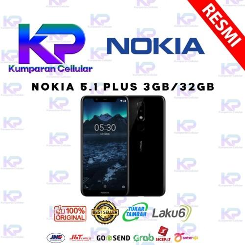 Foto Produk NOKIA 5.1 PLUS (X5) 3GB 32GB GARANSI RESMI - Hitam dari Kumparan Cellular