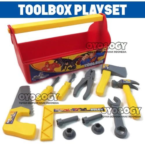 Foto Produk Mainan Anak Laki Laki Tools Box Set Alat Perkakas Tukang Gergaji Obeng dari oyo-ogy