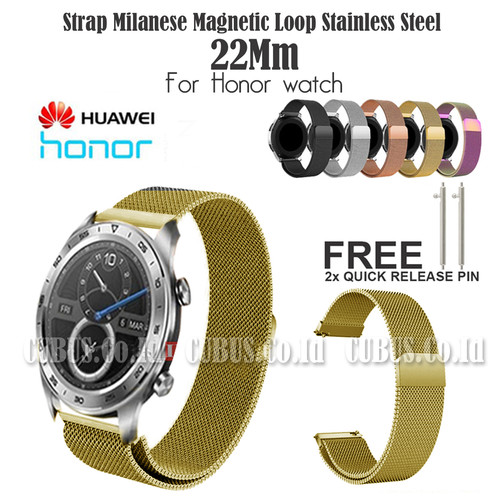 Foto Produk Strap Milanese Magnetic Loop Stainless Steel 22Mm For Honor watch - Gold dari Cubus_Co_ID