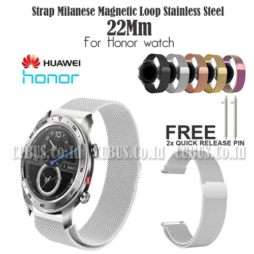 Foto Produk Strap Milanese Magnetic Loop Stainless Steel 22Mm For Honor watch - Silver dari Cubus_Co_ID