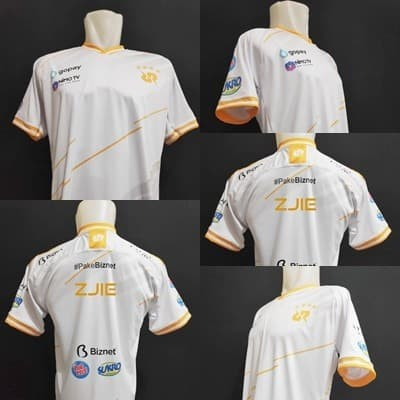 Foto Produk Jersey Kaos Baju Gaming RRQ 2020 WHITE ML, AOV,PB, PUBG Free Nick - L dari zJieShop