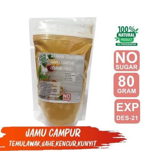 Foto Produk Jamu Campur Temulawak Jahe Kunyit Kencur Tanpa Gula 80 Gram dari berkahtani10