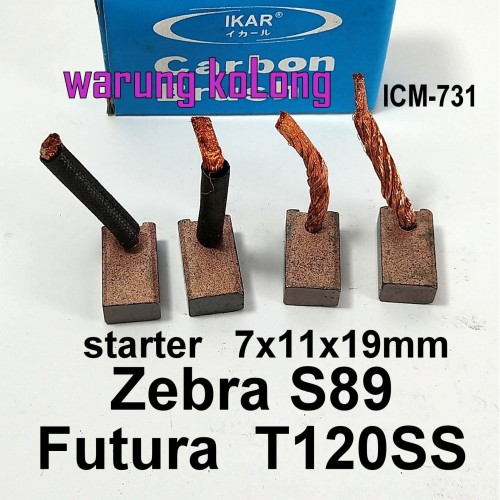 Foto Produk ARANG DINAMO CARBON BRUSH STARTER ZEBRA S89 FUTURA T120SS 7X11X19 MM dari Warung KoLong 542