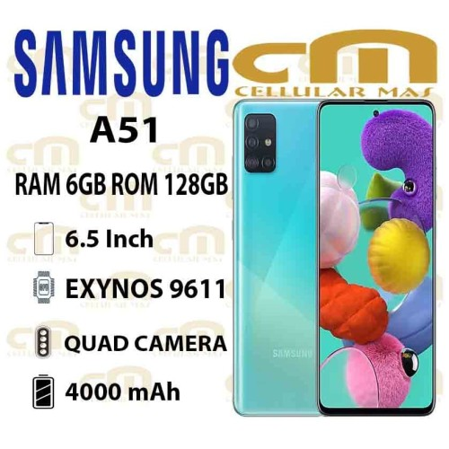 Foto Produk Samsung Galaxy A51 6/128 RAM 6GB ROM 128GB GARANSI RESMI SEIN - Hitam dari Cellular Mas