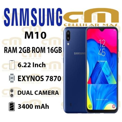 Foto Produk Samsung Galaxy M10 2/16 RAM 2GB ROM 16GB GARANSI RESMI SEIN - Biru dari Cellular Mas