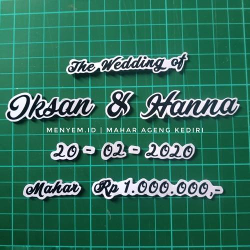 Foto Produk set nama mahar wedding dari maharpare