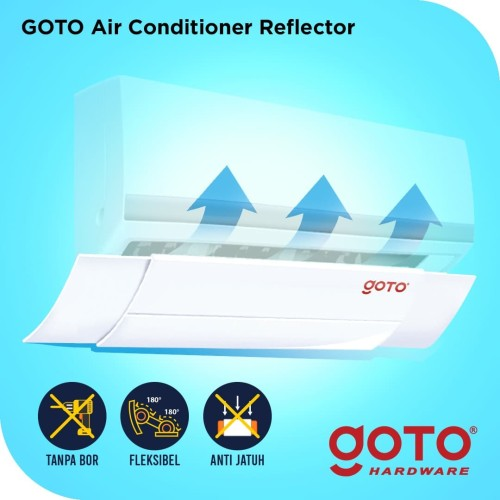 Foto Produk Goto Talang AC Reflector Air Screen Cover Penahan Angin dari GOTO Hardware