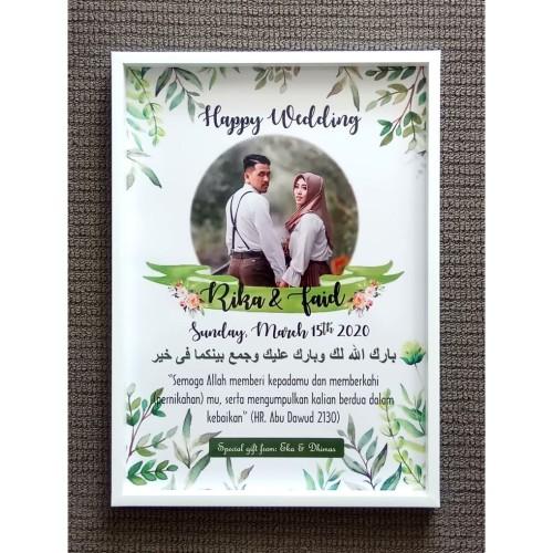 Foto Produk Hadiah Pernikahan Frame Box A3 - Kado Pernikahan Hantaran 3D dari ai_decor