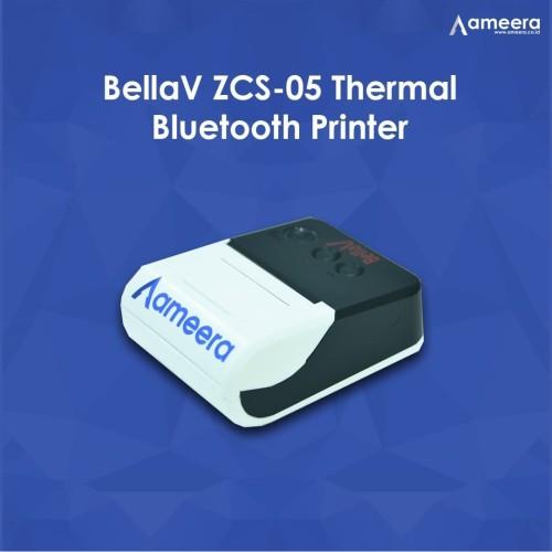 Foto Produk BellaV ZCS-05 Thermal Bluetooth Printer- black/white dari Ameera Official Store