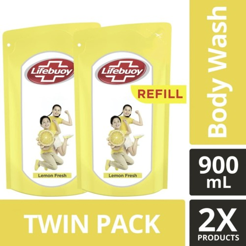 Foto Produk Lifebuoy Sabun Cair Lemon Fresh Refill 900Ml Twin Pack dari Unilever Official Store
