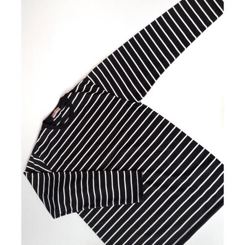 Foto Produk Kaos Lengan Panjang Garis Stripes Unisex Katun Big Size XXL - Premium dari Daily Outfits DYO
