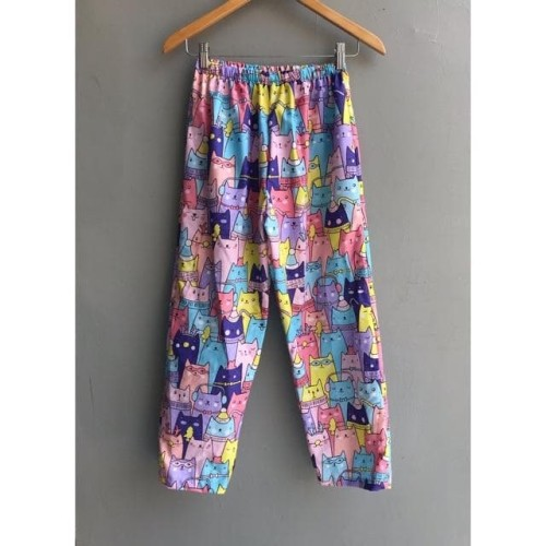 Foto Produk Celana Piyama Tidur Panjang Katun Wanita Cewek Perempuan - Random, XL dari Pink Studio