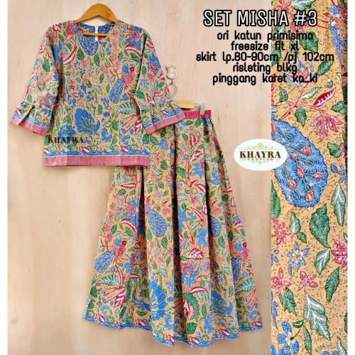 Foto Produk Batik Solo Set Misha 345 Khayra Batiksoloamanah 210.000 dari Batik Solo Amanah