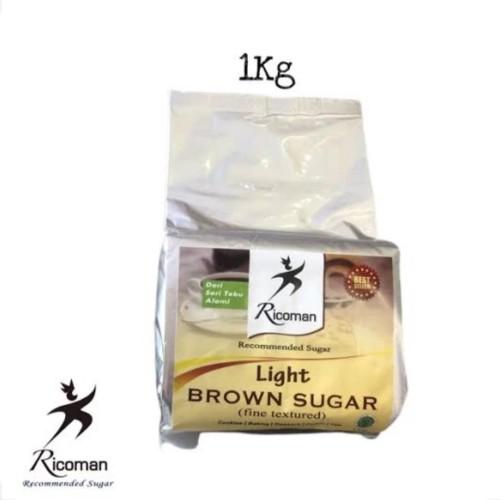 Foto Produk Ricoman Light Brown Sugar 1kg dari Kochhaus