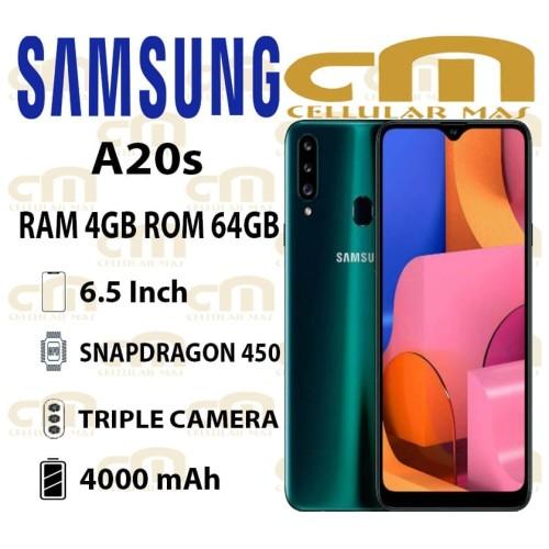 Foto Produk Samsung Galaxy A20s 4/64 RAM 4GB ROM 64GB GARANSI RESMI SEIN - Hijau dari Cellular Mas