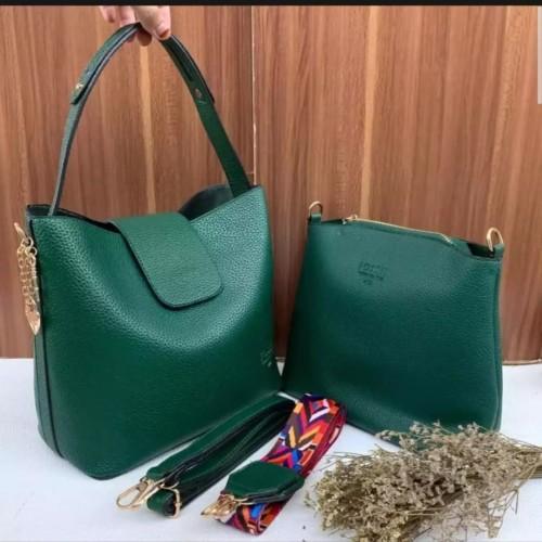 Foto Produk Tas bahu & jinjing wanita - Tas wanita 2in fosil kd best seller - Hijau dari Ordinary bags
