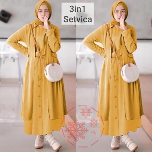 Foto Produk Dress Murah VS SETVICA 3IN1 (3 warna) dari Lemari Wanita