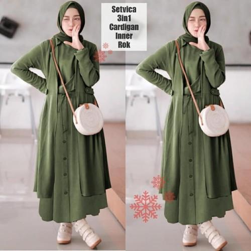 Foto Produk Dress Murah VS SETVICA 3IN1 (5 warna) dari Lemari Wanita