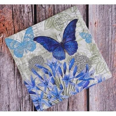 Foto Produk Decoupage Napkin - Tissue Decoupage 2Ply AN-Blue Butterflies dari JPL CRAFT STORE