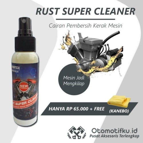 Foto Produk PEMBERSIH KERAK MESIN MOTOR OTOMOTIFKU RUSH SUPER CLEANER FREE KANEBO dari Otomotifku Official