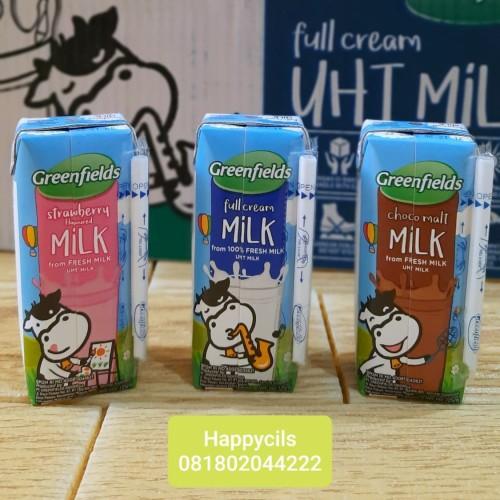 Foto Produk Susu Greenfields 125 ml 1 dus greenfield - Full Cream dari happycils