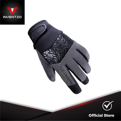 Foto Produk INVENTZO Avro - Sarung Tangan Motor Sensitive Touch Pria - Black Grey - M dari INVENTZO