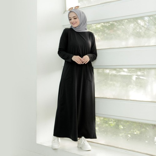 Foto Produk Nobby Dress Sporty Muslimah Areta - Abu-abu, M dari Nobby Hijab