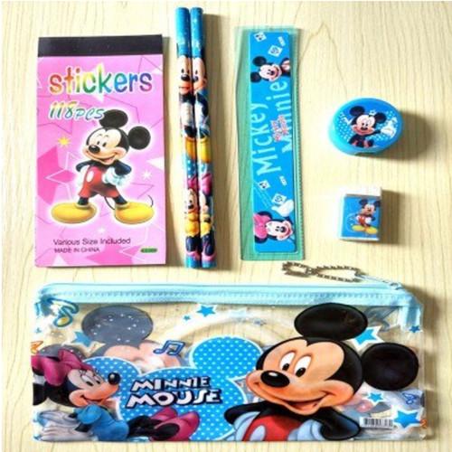 Foto Produk 1 Set Tempat Pensil / Set Menulis Anak Bergambar - Mickey Mouse dari Educationplays