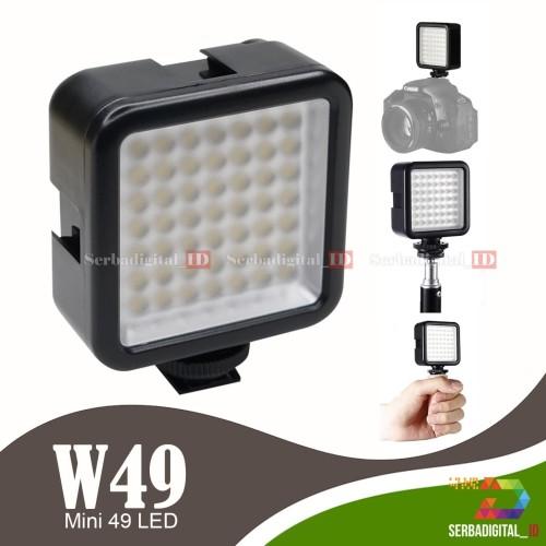 Foto Produk Video Lighting LED Mini 49 LED Fotografi Camera Smartphone Vloging dari serbadigital-id