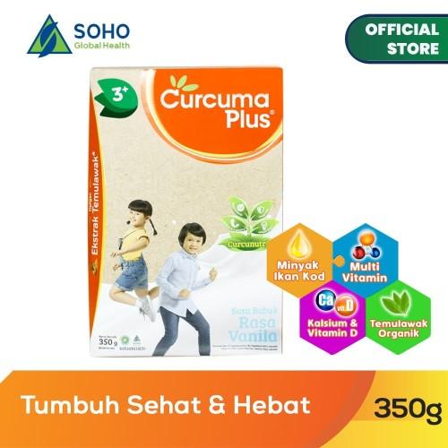 Foto Produk Curcuma Plus Susu Bubuk Ekstrak Temulawak - Vanilla 350g dari Soho Global