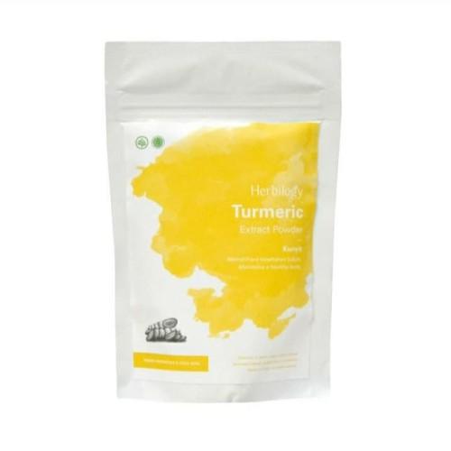 Foto Produk Herbilogy - Turmeric 100gr - Kunyit Bubuk - Turmeric Extract Powder dari Jagapati
