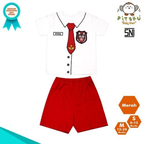 Foto Produk Baju SD Dasi Setelan Baju Bayi Piteku Baby Wear - S 6-12 Bulan dari piteku baby wear