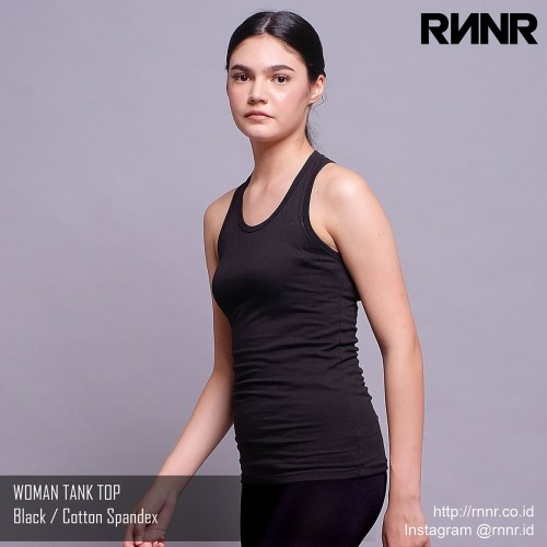 Foto Produk Baju Senam / Baju Yoga / Olahraga Wanita kaos Tank Top spandex hitam dari rnnr