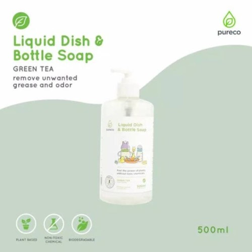 Foto Produk Pureco Liquid Dish And Bottle Soap 500 ml (home size) dari Little Joyce Shop