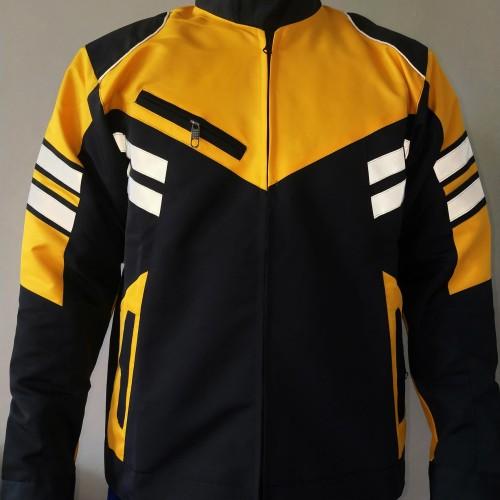 Foto Produk jaket motor turing kuning maxim - Kuning, M dari jaketgrosirindo