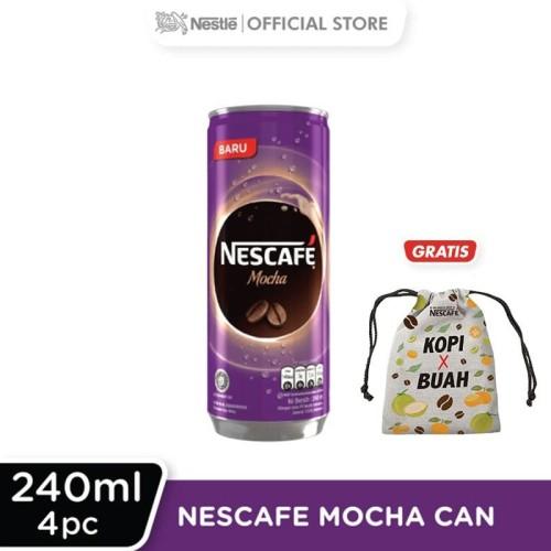 Foto Produk NESCAFE Mocha Kaleng 240ml 4 Pcs Gratis Pouch dari Nestle Indonesia
