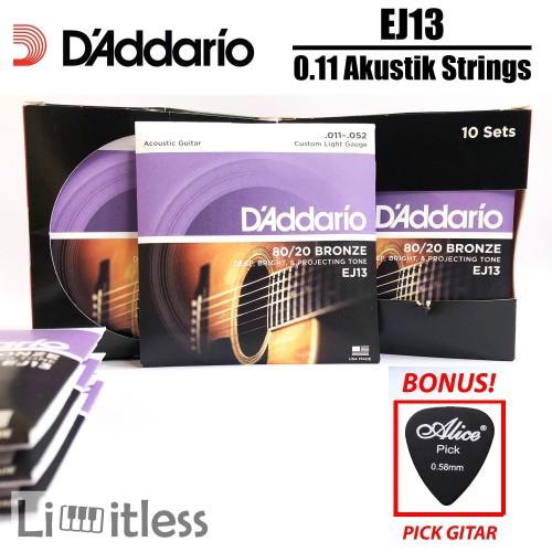 Foto Produk Daddario EJ13 0.11 Senar Gitar Akustik Strings Dadario Original USA dari Limit-less Store