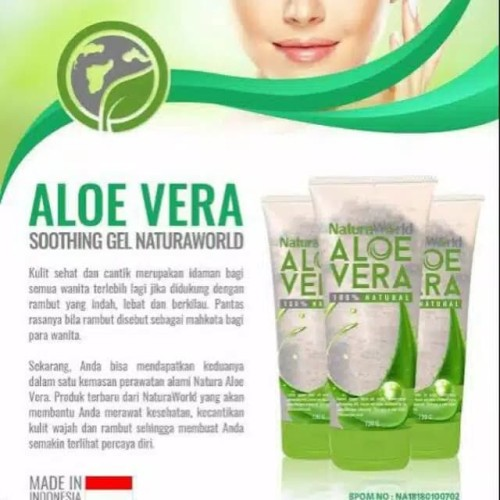 Foto Produk natura aloevera soothing gel by natura world 100% ori dari double_adz