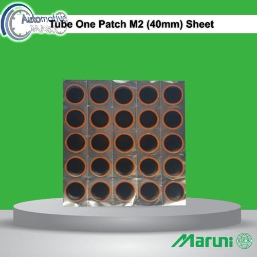 Foto Produk Maruni Tube Patch M2 Lembar Isi 25pcs Karet Koyok Tambal Ban TipTop dari automotive mart