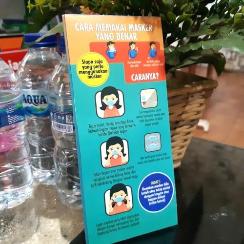 Foto Produk Flyer Cara Pakai Masker dan 6 Langkah Cuci Tangan dari Syafana