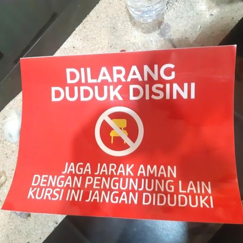 Foto Produk Stiker Dilarang Duduk Disini dari Syafana