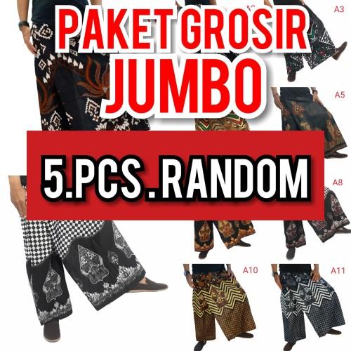 Foto Produk GROSIR CELANA SARUNG BATIK JUMBO | PAKET 5 PCS JUMBO MOTIF RANDOM dari Batik Awab