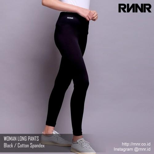 Foto Produk Celana Olahraga / Celana Lari Wanita / Legging Panjang Warna Hitam - M dari rnnr