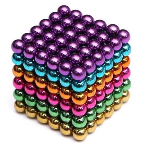 Foto Produk Mainan Magnetik Buckyballs Magnetic Ball / Bola Magnet multi color - 5 MM dari Rumah Susun