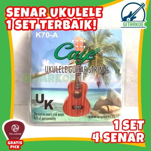 Foto Produk Senar Ukulele Nylon Nilon Terbaik 1 Set Senar isi 4 Import Caye K70-A dari gitarkoe