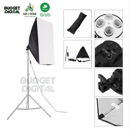 Foto Produk Photo Studio Softbox + 4 Socket E27 Bulb Holder 50x70cm dari BudgetDigital